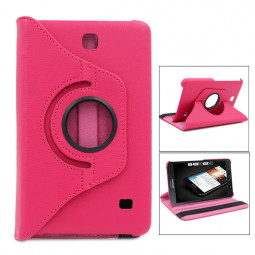 360 Degree Rotating Flip Case for Samsung Galaxy T230 Tab4 7.0 - Hot Pink