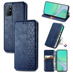 Magnetic Buckle PU Leather Wallet Case Cover for One Plus 8T - Blue