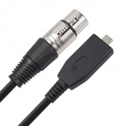 XLR to USB C Microphone Cable for Sumsung Huawei Google USB Type C Devices - 3M