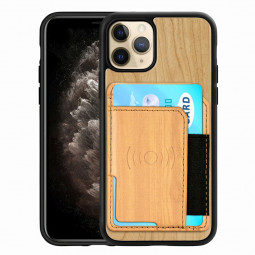 Real Natural Wood Phone Case Protective Back Cover for iPhone 11 Pro Max - Cherry