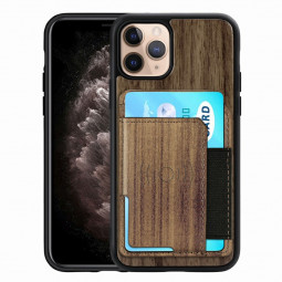 Real Natural Wood Phone Case Protective Back Cover for iPhone 11 Pro - Walnut