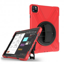 Heavy Duty Rugged PC Silicone Case for Apple iPad Pro 11 inch 2018/2020 - Red