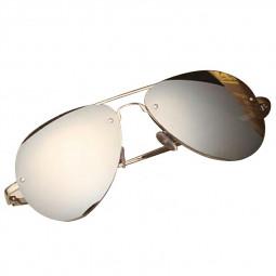 Vintage Mirror Reflection Toad Sunglasses UV400 - Silver