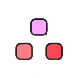 Waterproof Case Filter Black Housing Cover Diving Red/Pink/Magenta Lens Filter for GoPro Hero 9