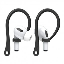 Anti-Lost Sport Silicone Ear Hooks for Apple AirPods Pro - Black