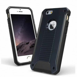 Rugged Armor 2 in 1 Bumper Case Back Cover for iPhone 6 4.7 inch - Black