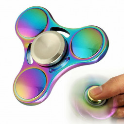 EDC Rainbow Spinner Hand Finger Fidget products with Metal Bearings