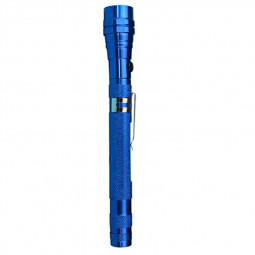 Magnetic 3 LED Flash Light Telescopic Flexible Neck Pick Up Tool - Blue