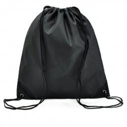 Folding Sport Backpack Drawstring Bag Home Travel Storage Organizor - Black