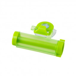 Toothpaste Dispenser Rolling Squeezer Holder Hanging Hook Suction - Green