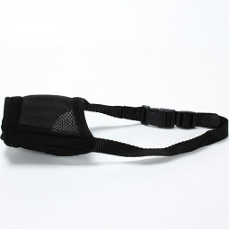 Dog Muzzle Prevent for Biting Barking and Chewing with Adjustable Loop Soft Breathable Mesh - XL