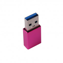 USB-C Female to USB-A Male Adapter - Hot Pink