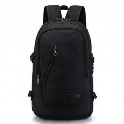 Laptop Backpack Rucksack Work Travel School Bags with USB Charging Port - Black