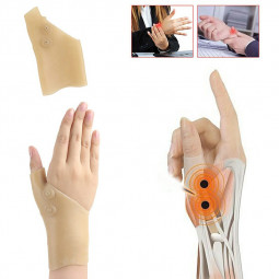 One Piece Magnetic Therapy Glove Silicone Gel Glove Thumb Support Pain Relief
