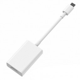 Type-C to HDMI Compatible Adapter Male to Female Converter Cable - White