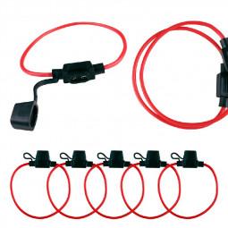 5 pcs Inline Fuse Holder to Accept 12V 30A Mini Blade Fuses Splash Proof for Car Bike