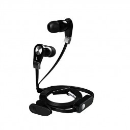 jm02 Subwoofer with Microphone in-ear Earbud Headphones with Mic - Black