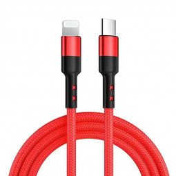 USB 31 Type-C USB-C to 8pin Nylon Braided PD Fast Charging Cable - Red