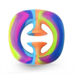 Squeeze Snap Hand Grip Suction Fidget Product Sensory Stress Anxiety Relief ADHD - Rainbow