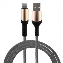 8 pin Flexible Braided Charging Cable for iPhone iPad - Grey