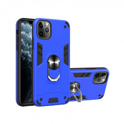 Armor Heavy Duty Dual Layer Ring Shockproof Hard Protective Case for iPhone 11 Pro Max - Blue.