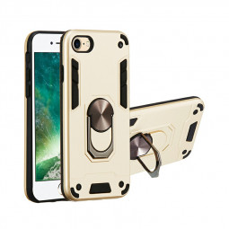 Armor Heavy Duty Dual Layer Ring Shockproof Hard Protective Case for iPhone 7/8/SE 2020 - Gold