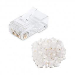 100 pcs 8P8C STP Cat5E Cat5 Ethernet Cable Plug