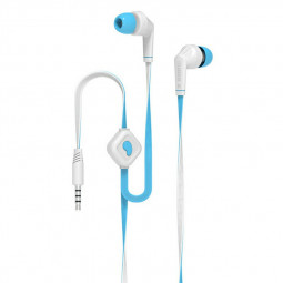 Subwoofer Build-in Microphone 35mm Wired In Ear Earphones - Blue