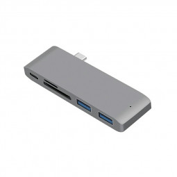 5 Port Type-C to USB 30 Hub Charging Adapter SD/TF Card Reader for MacBook Pro