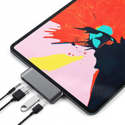 4 in 1 Type C HUB to 3 Port Mobile Pro Hub Adapter PD Charging 4K HDMI for Samsung Galaxy Note10 for iPad Pro 2019
