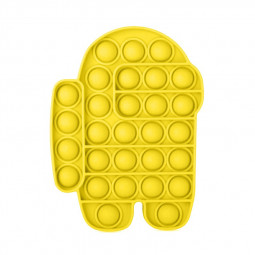 Pop it Fidget Board Among Us Pop it Easy Carry Durable and Fun - Yellow
