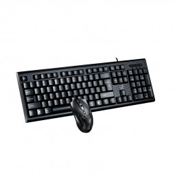 Q9B Easy Rebound UV Character Wired Office Ergonomic Keyboard with Mouse