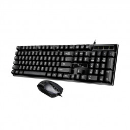 Q17 UV Technology USB Wired Computer PC Keyboards with Frosted Surface Mouse