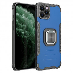 Shockproof Heavy Duty Rugged Armor TPU + PC Protective Back Case for iPhone 12 - Blue