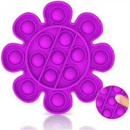 Pop it Fidget Flower a Loud Side and a Quiet Side to Pop - Purple