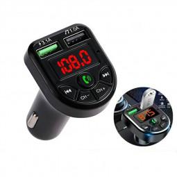 Wireless Car Kit FM Transmitter Bluetooth Radio MP3 Music Player USB Charger