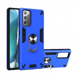 Armor Heavy Duty Dual Layer Ring Hard Protective Case for Samsung Galaxy Note 20 4G-5G - Blue