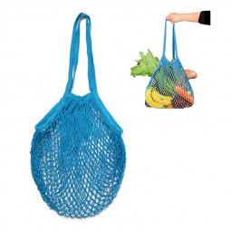 Mesh Net Bag String Shopping Bag Reusable Fruit Vegetables Storage Handbag - Sky Blue