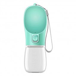 350ml Portable Dog Water Bottle Outdoor Travel Drinking Bowl Dispenser - Green