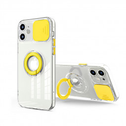 TPU Gel Rubber Shockproof Cover Protective Back Case for iPhone 12 Mini - Yellow