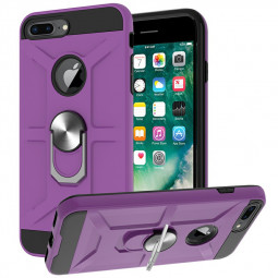 Armor Heavy Duty Dual Layer Ring Shockproof Hard Protective Case for iPhone 8 Plus/7 Plus - Purple