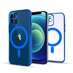 Soft TPU Gel Rubber Magnetic Case for iPhone 12 Mini - Blue