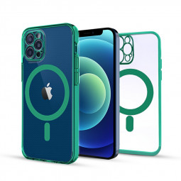 Soft TPU Gel Rubber Magnetic Case for iPhone 12 Pro Max - Green