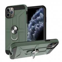 Armor Heavy Duty Dual Layer Ring Shockproof Hard Case for iPhone 11 Pro Max - Green