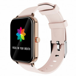 G16 16 inch Full Tentacle Smart Watch Fitness Tracker IPS Calories Heart Rate Sleep Monitor Wrist Band - Rose Gold