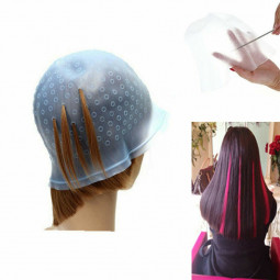 Professional Reusable Hair Coloring Magicap Rubber Cap Streaking with Hook