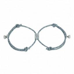 2 pcs Attract Couples Bracelets Bracelet Rope Weaving Magnet Love Jewelry