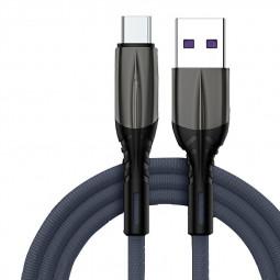 USB 3.1 Type-C USB-C Nylon Braided Fast Charging Cable - Grey