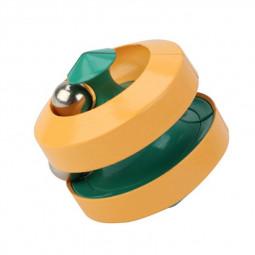 Fingertip Rubik Educational Irregular Round Cube Finger Magic Disk - Yellow