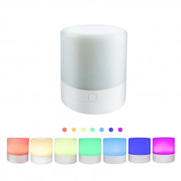 Rechargeble Led Touch Night Light 7 Colors Light Adjustable Night Lamp